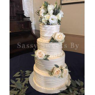 My 1st 4 tier wedding cake