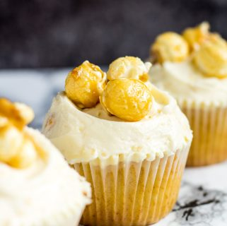 Toffee Popcorn Cupcakes