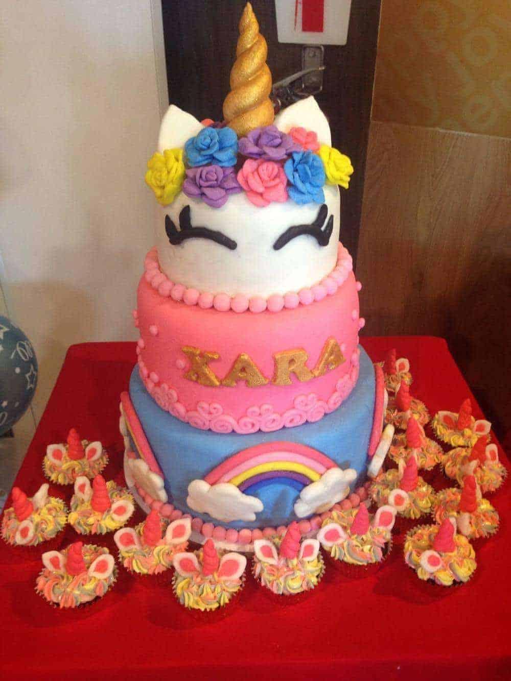 Unicorn And Rainbows Cake I Am Baker