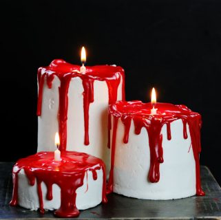 Bloody Candle Cakes