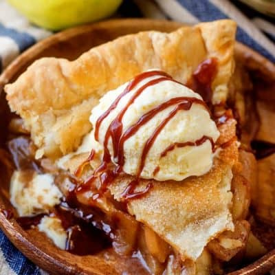This BOOZY Caramel Apple Pie is for adults only!