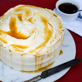 Classic Yellow Cake with Pure Maple Syrup Buttercream Frosting