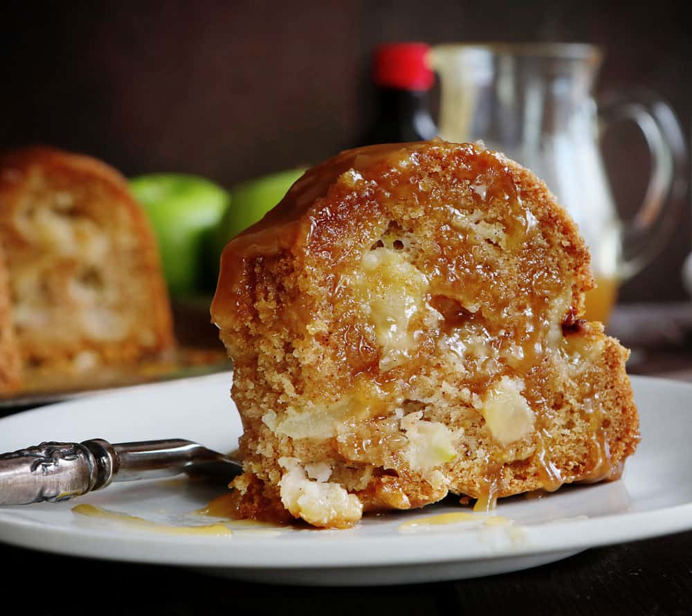 "One of those ""NO FAIL"" recipes that everyone loves! #applebundtcake #iambaker"