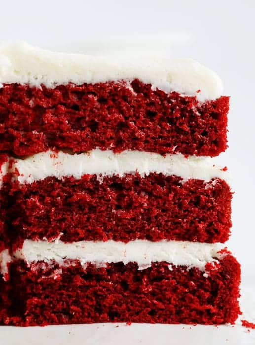 Super moist and crazy delicious red velvet cake!