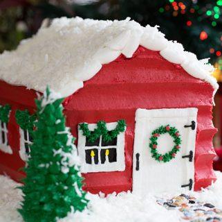 Santa's House Cake