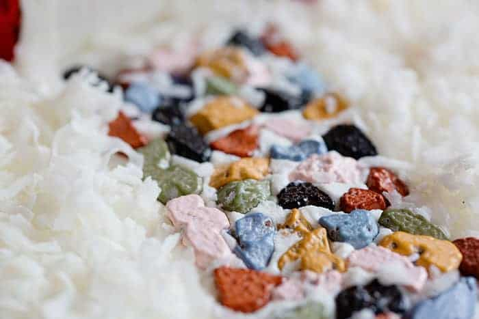 Rock candy stones for a fun walkway to Santa's House! #christmas #christmascake #baking #cake