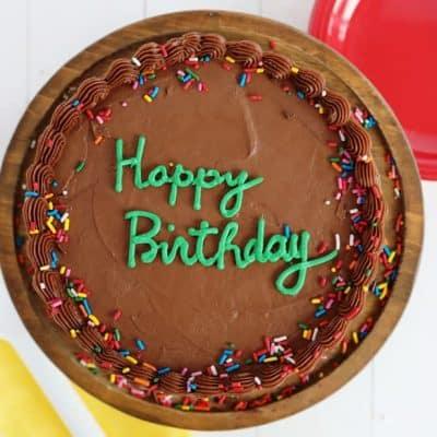 Yellow Cake with Chocolate Buttercream