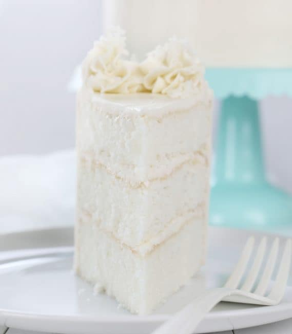 Seriously perfect layers of coconut cake deliciousness!