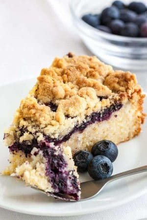 Blueberry Breakfast Cake with Crumble Topping