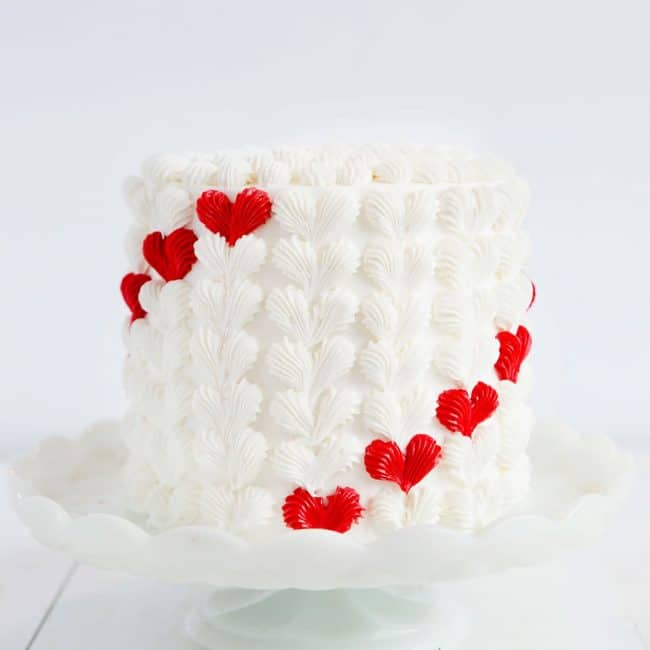 Buttercream Heart Cake
