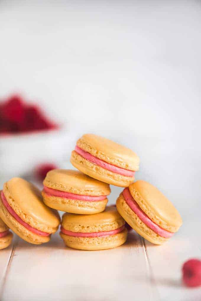 Lemon Raspberry Macarons-4