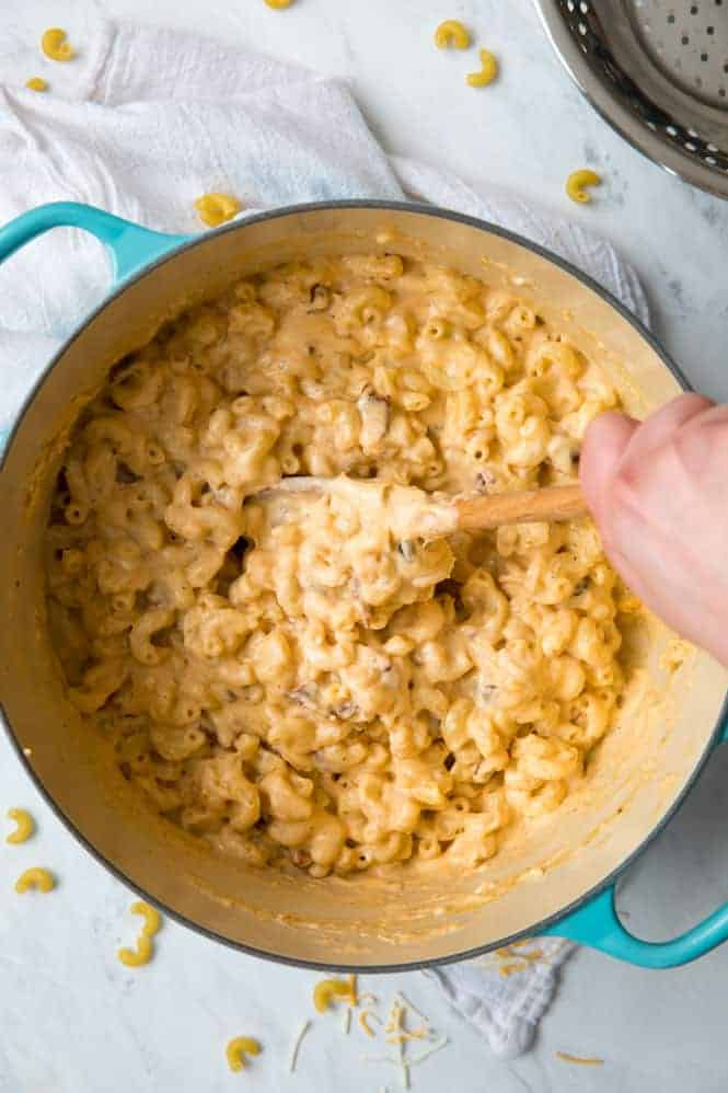The BEST Bacon Macaroni and Cheese!