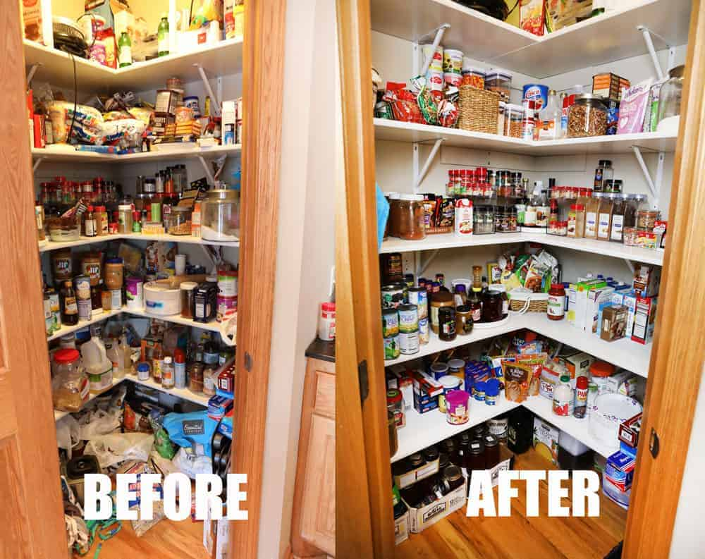 Pantry BEFORE and AFTER