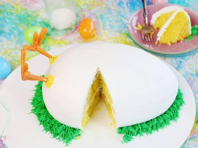 Easter Cake Idea - Hatching Chick Cake