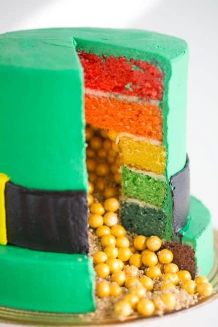 Easy Leprechaun Hat Cake