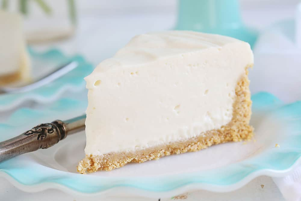 One Piece of No Bake Cheesecake