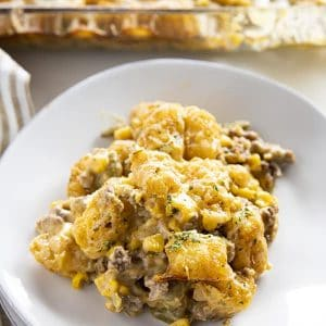 tater tot hotdish with ground beef