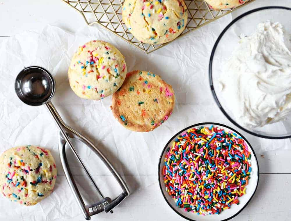 Funfetti Cookie Sandwiches To Make These Birthday Cake