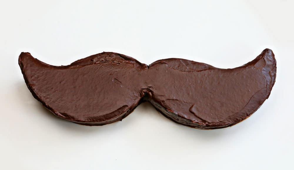 Mustache Treats - Chocolate Covered Cheesecake Mustache