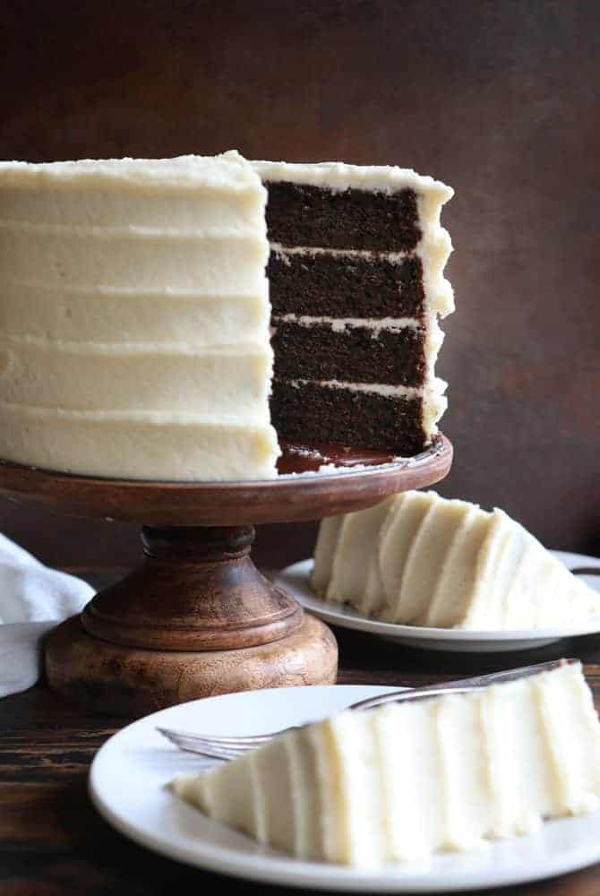 Chocolate Cake with Maple Frosting