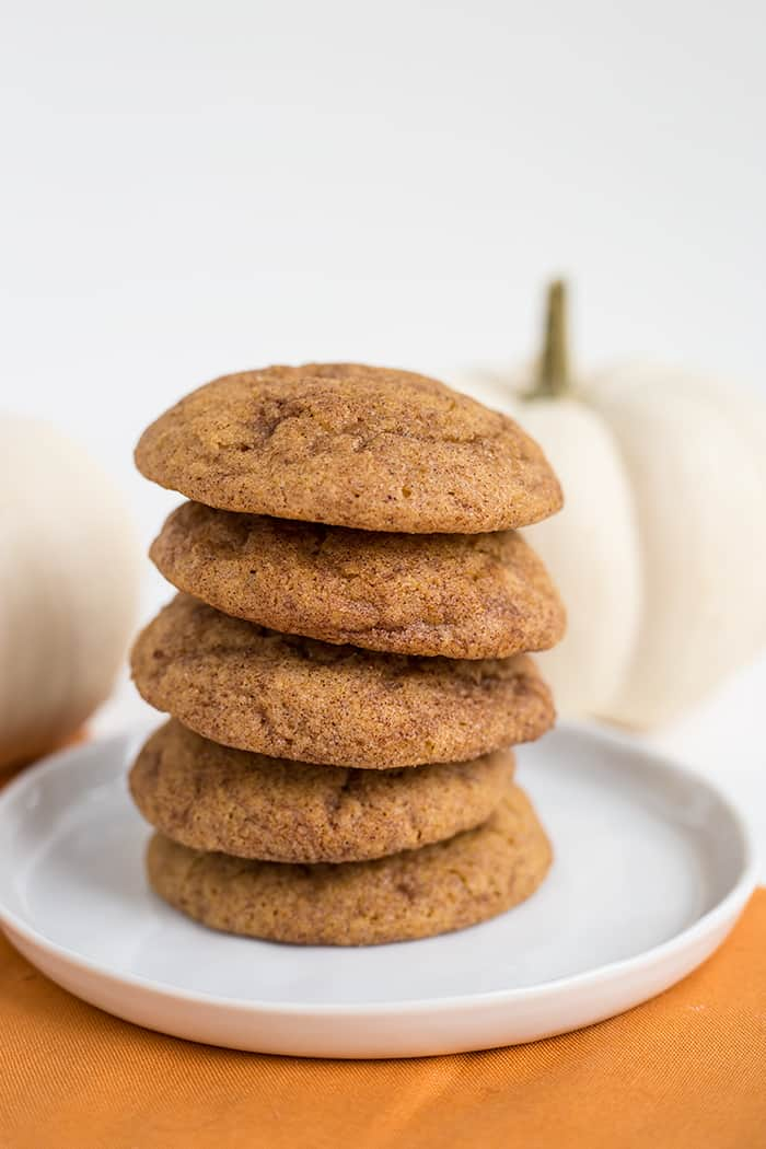 These are the perfect light and fluffy pumpkin snickerdoodle for Fall.