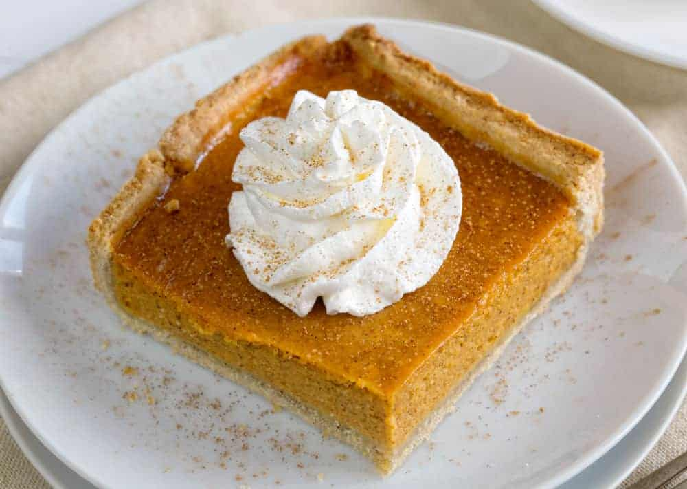 Slice of Pumpkin Slab Pie