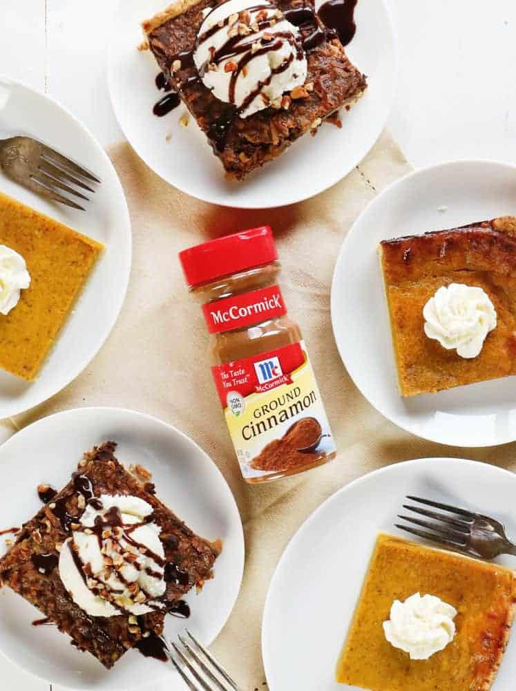 Pumpkin and German Chocolate Slab Pie