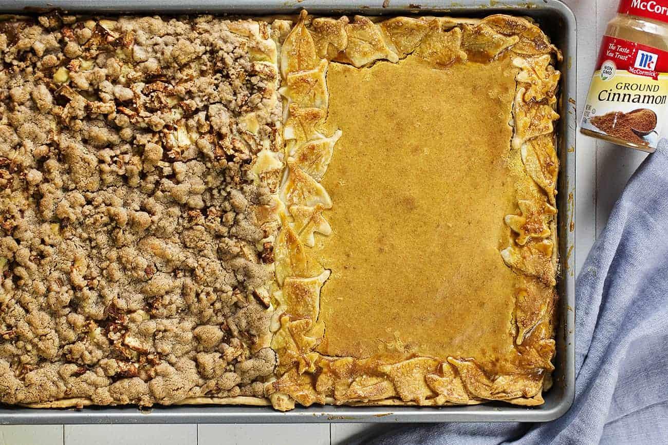 Sheet Pan Apple Crisp and Pumpkin Pie