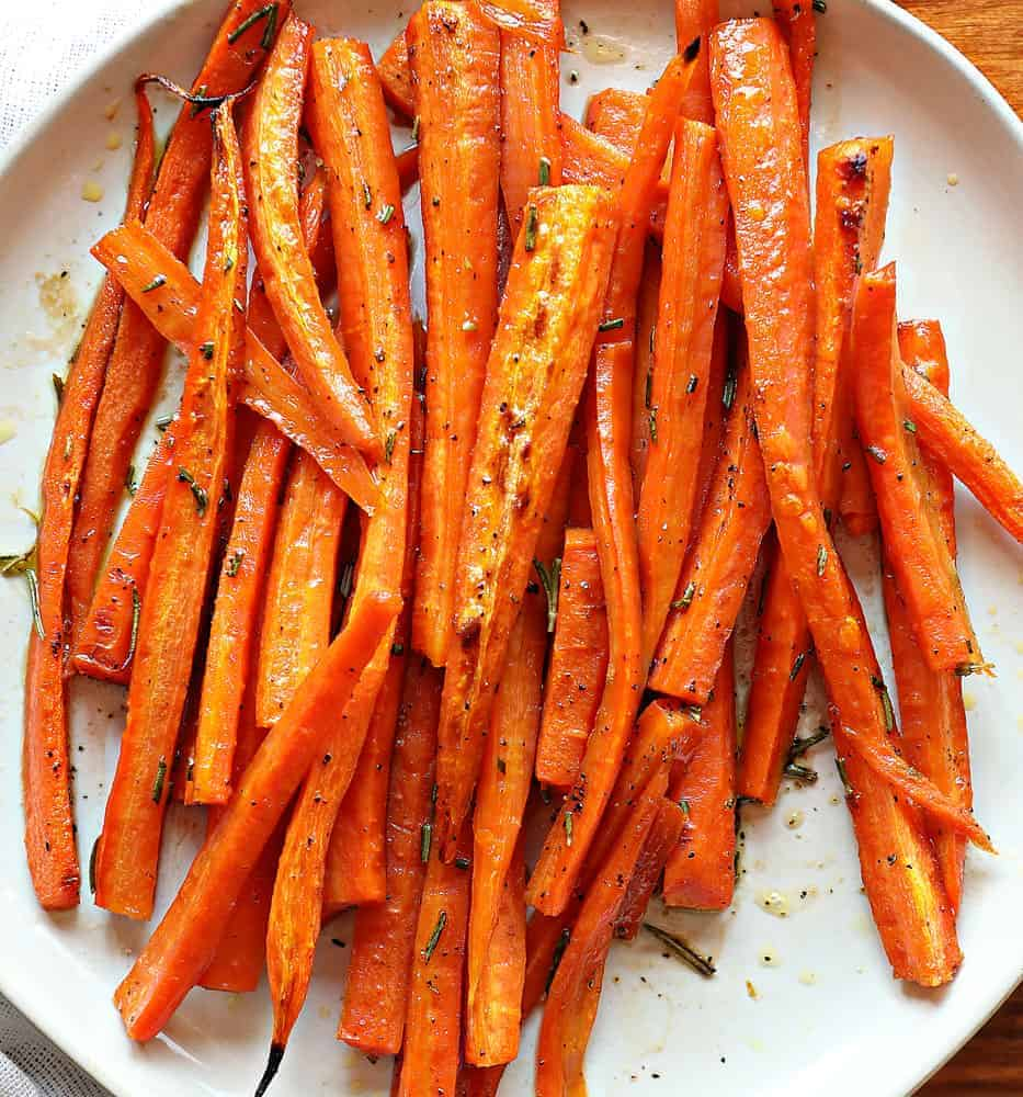 Rosemary and Brown Sugar Roasted Carrots