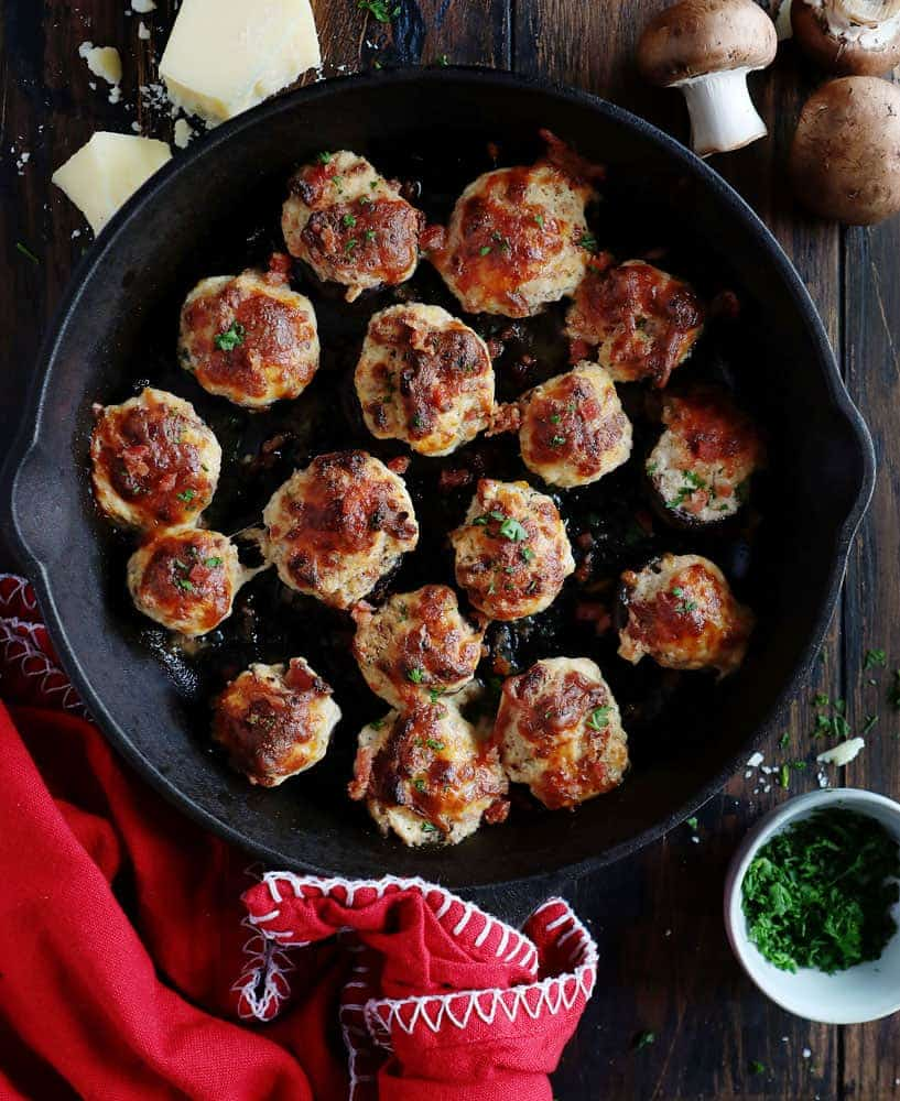 Bacon Stuffed Mushrooms are the perfect appetizer to please the crowd!