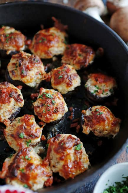 Each bite of these bacon stuffed mushrooms is bursting with flavor!