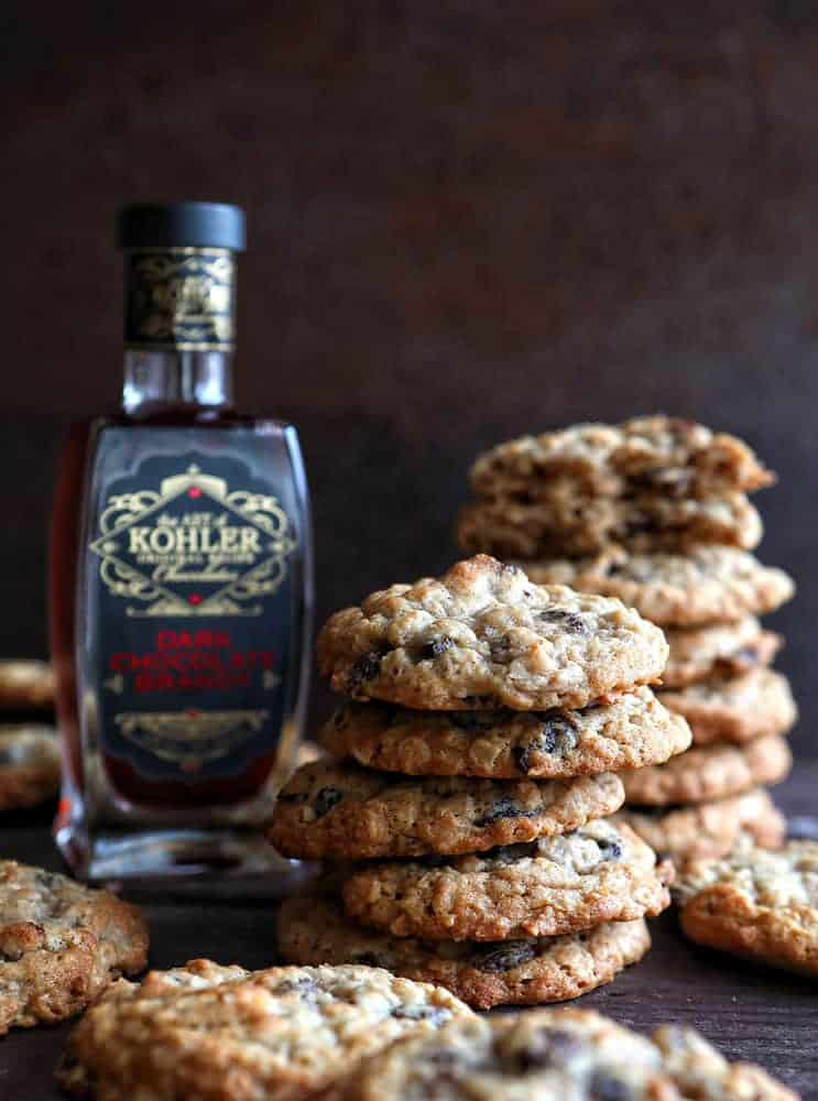 Boozy Oatmeal Raisin Cookies