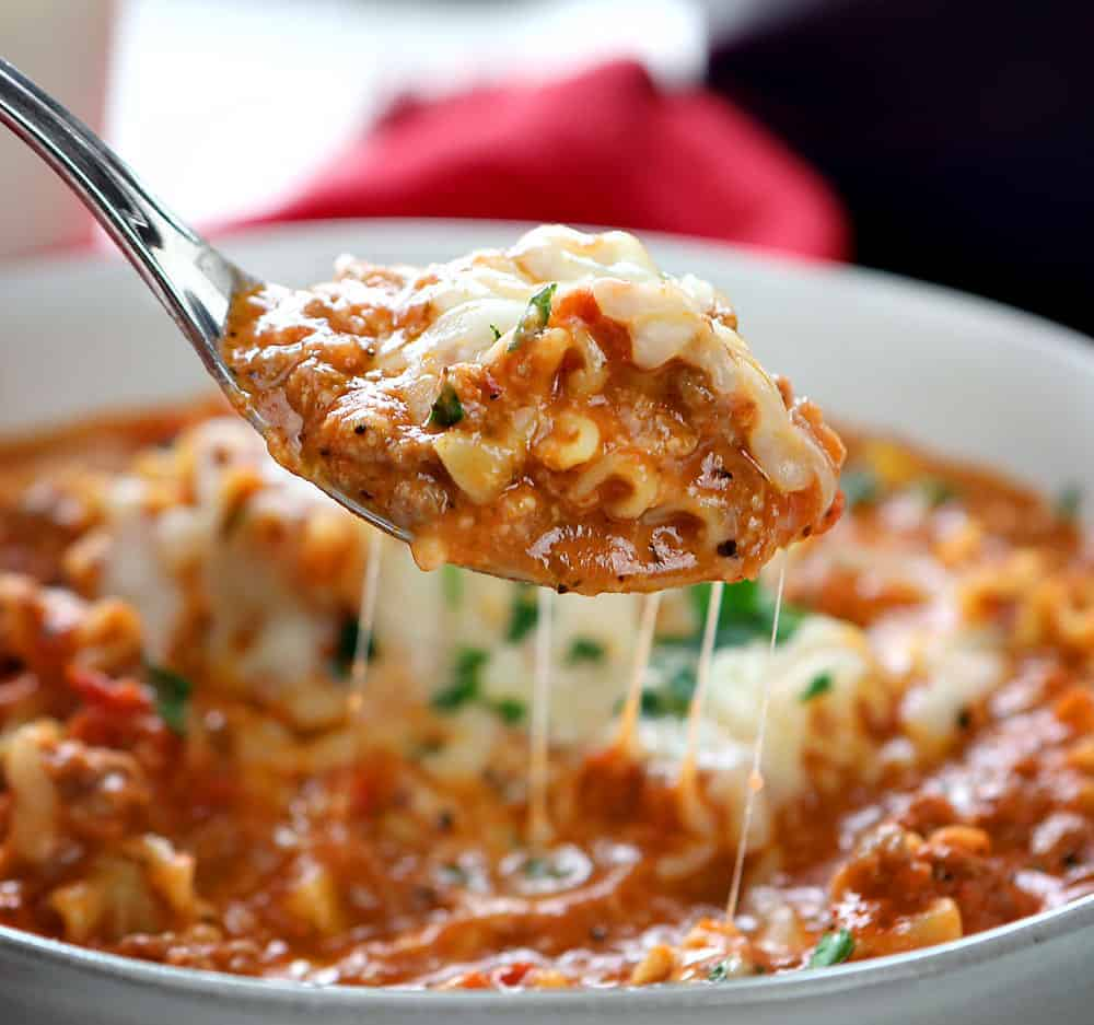 Spoonful of Easy Lasagna Soup