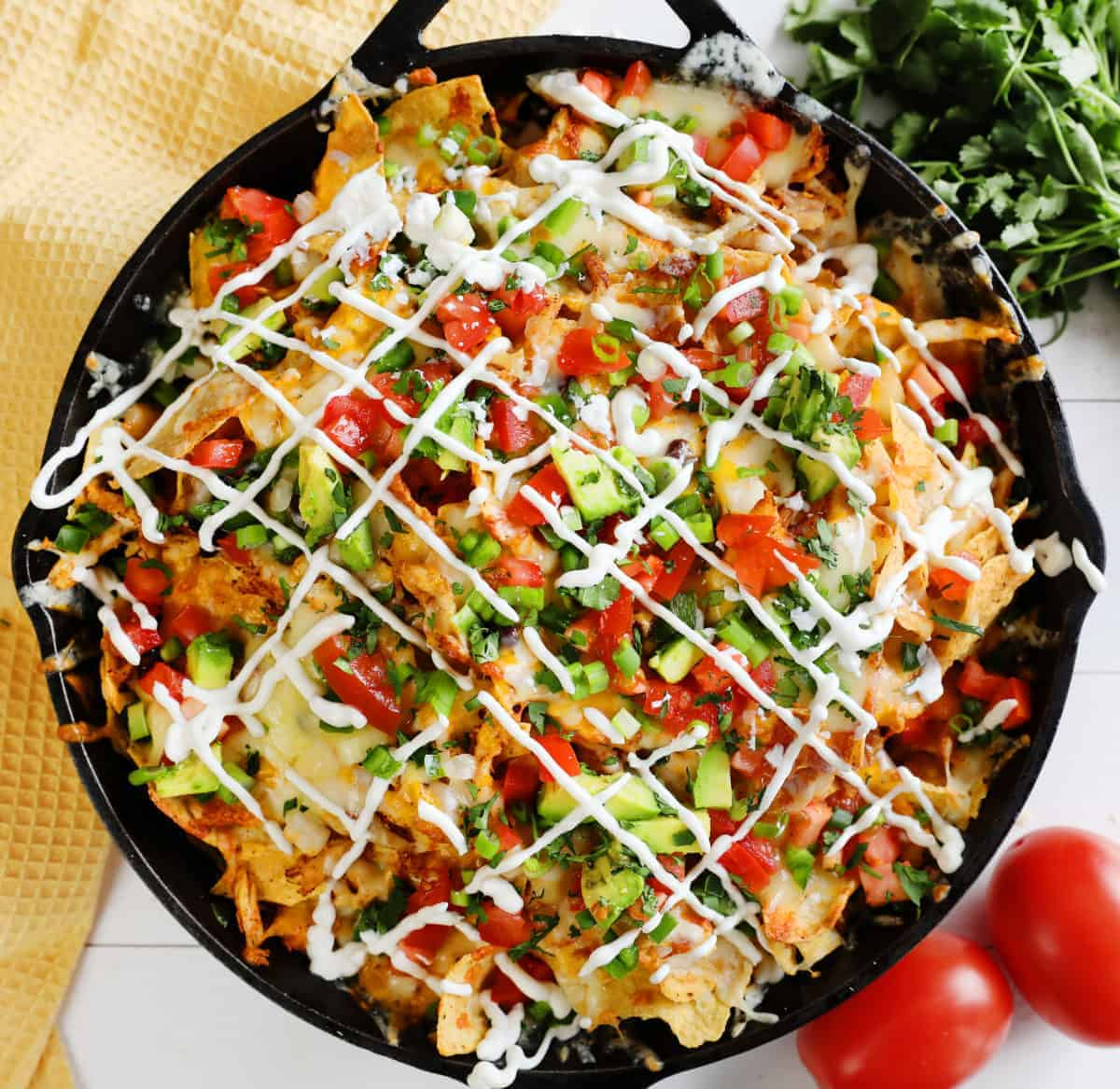 Loaded Chicken Nachos