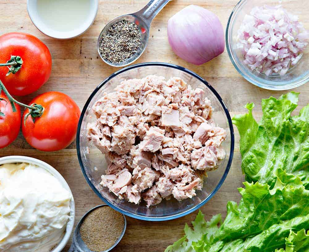 Tuna Salad Ingredients