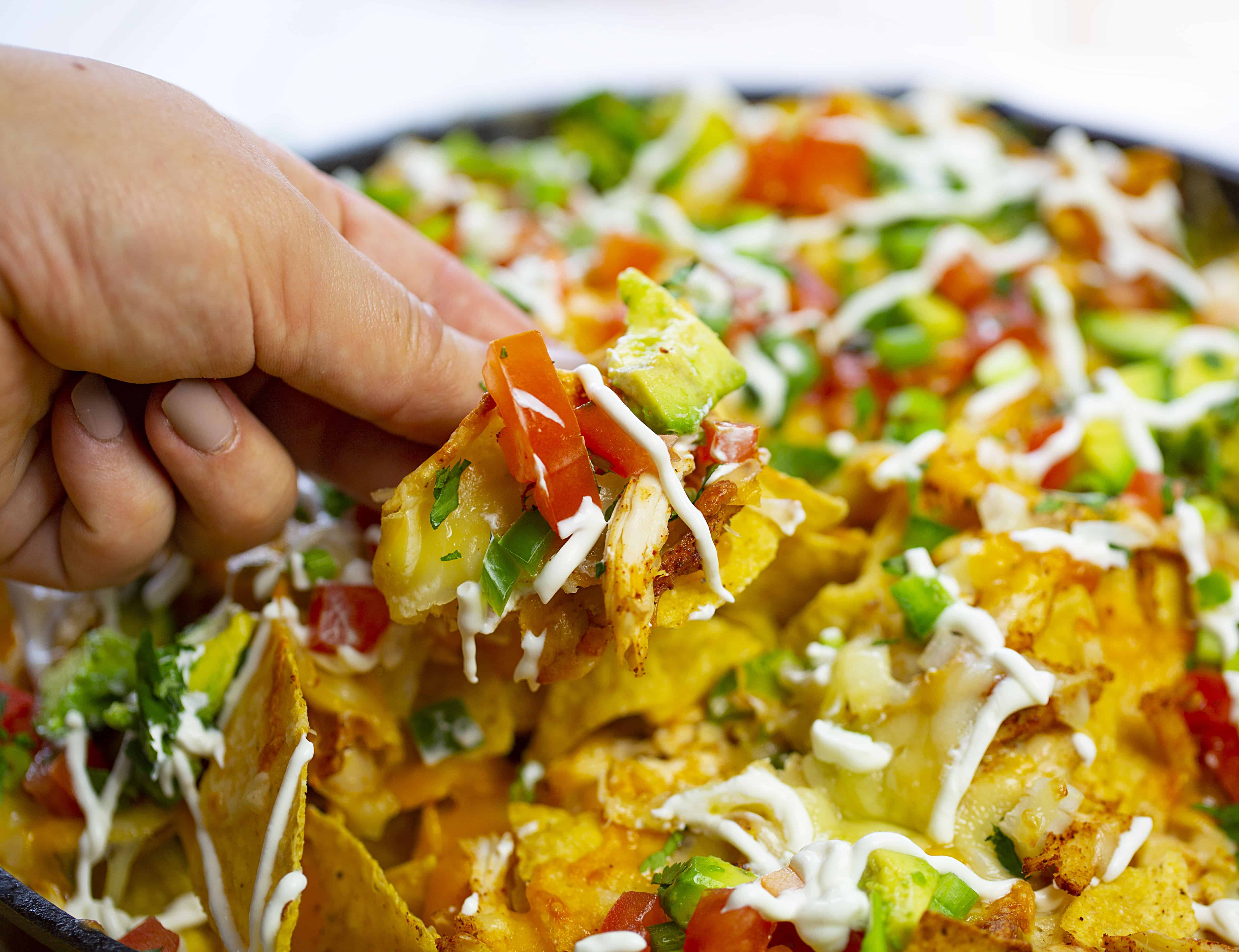 Skillet Chicken Nachos Recipe