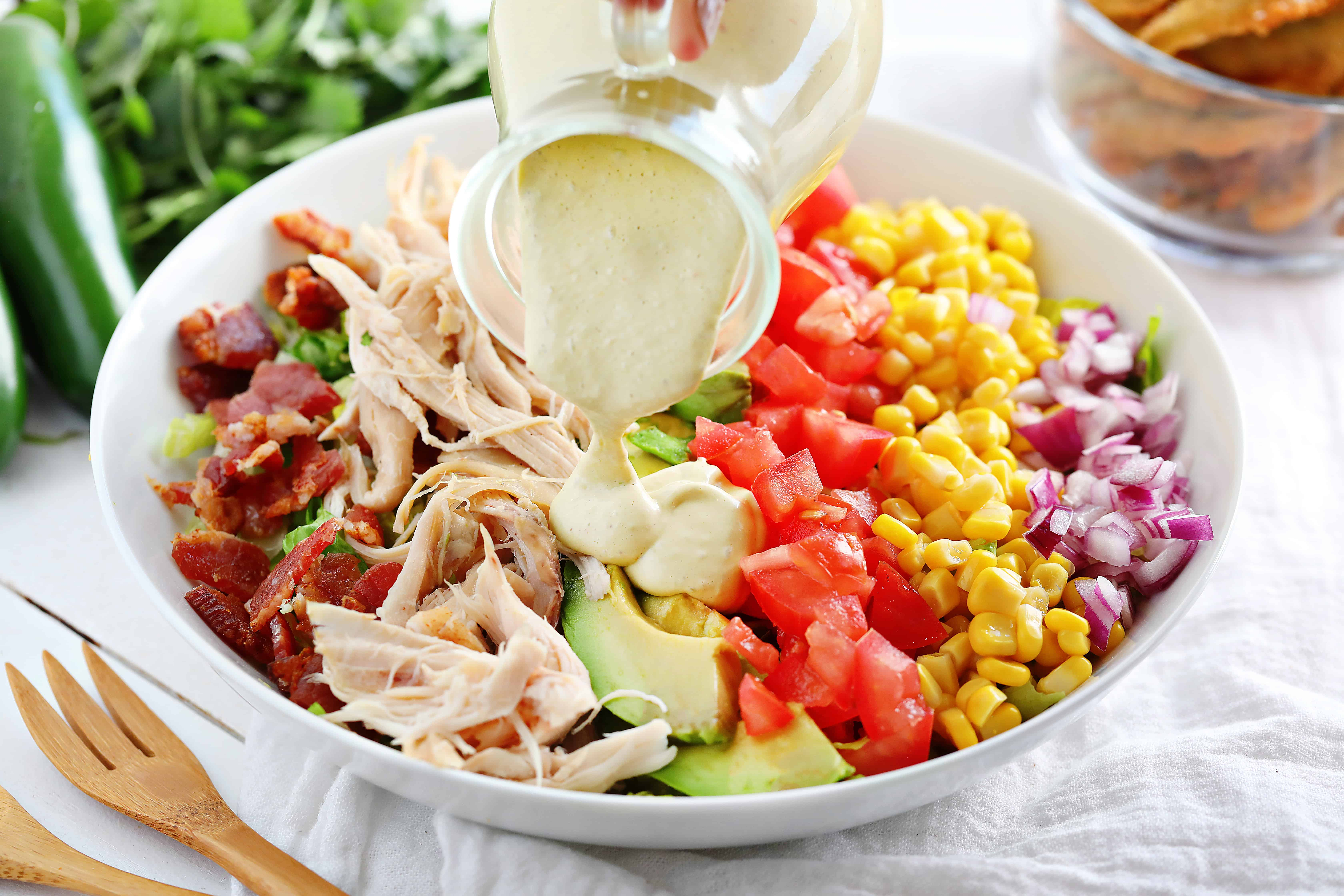 Chicken Salad with Jalapeno Dressing
