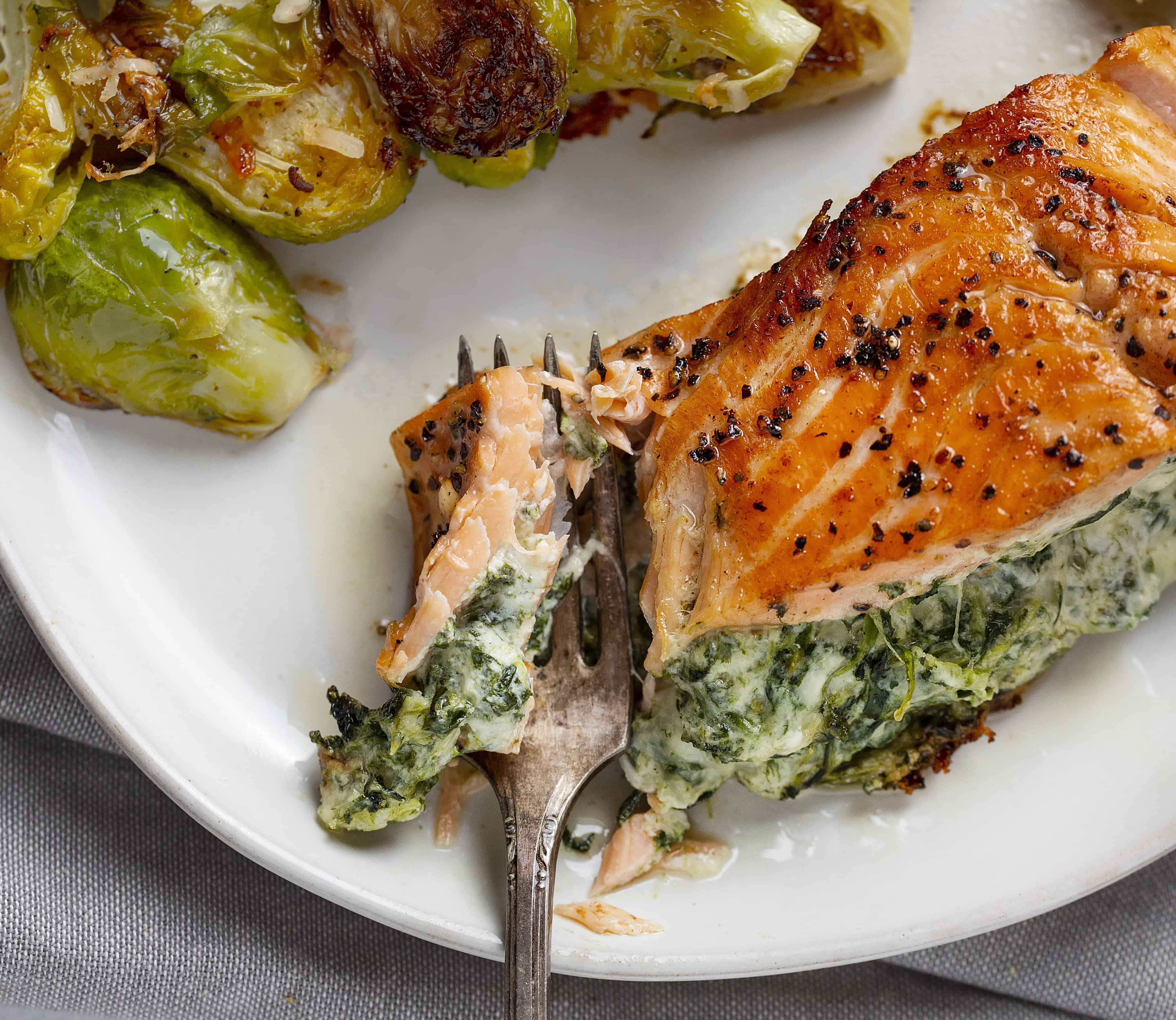 Easy Spinach Stuffed Salmon
