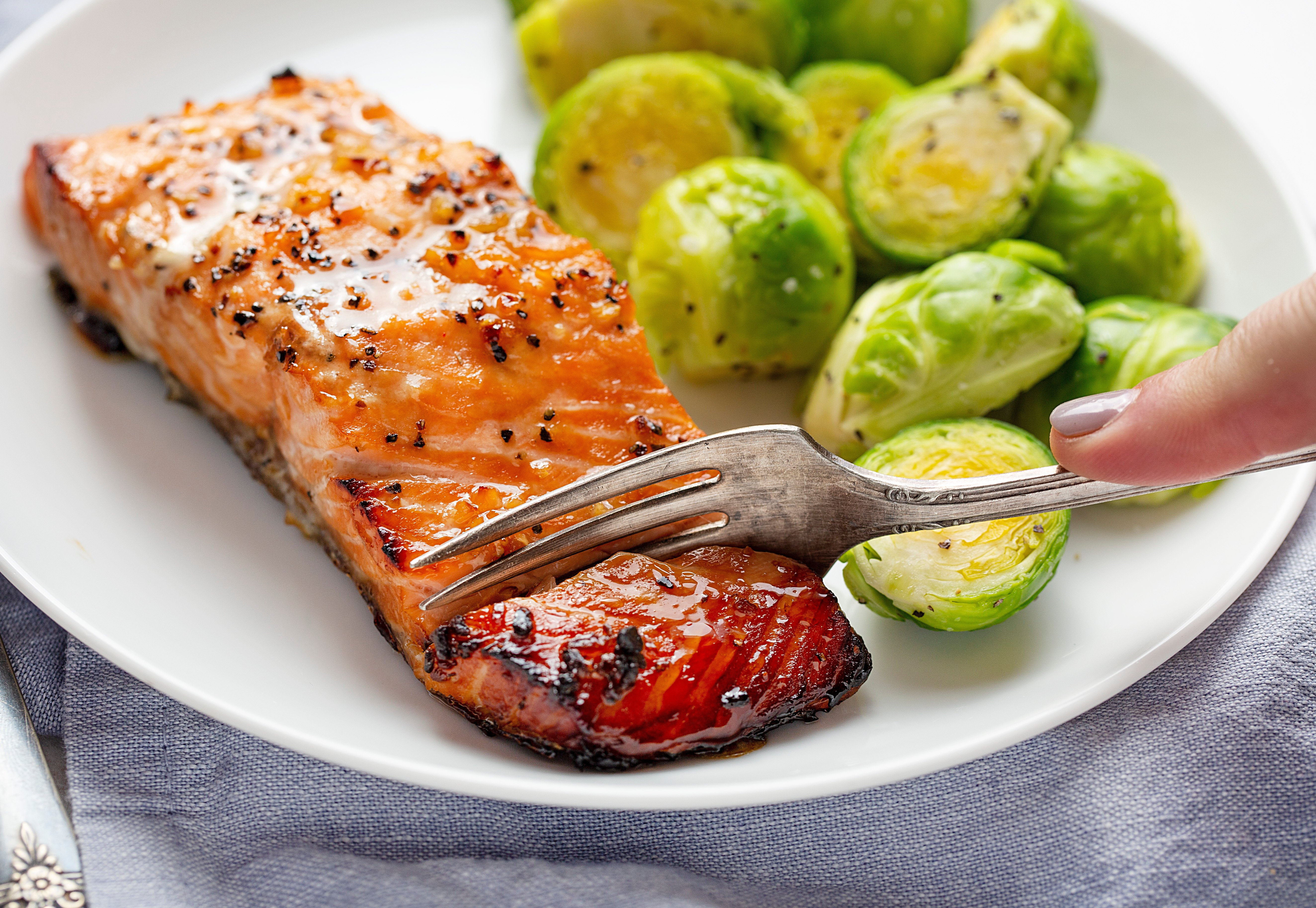Roasted Honey Garlic Salmon