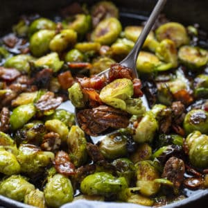 Brussel Sprouts with Pecan Maple Glaze