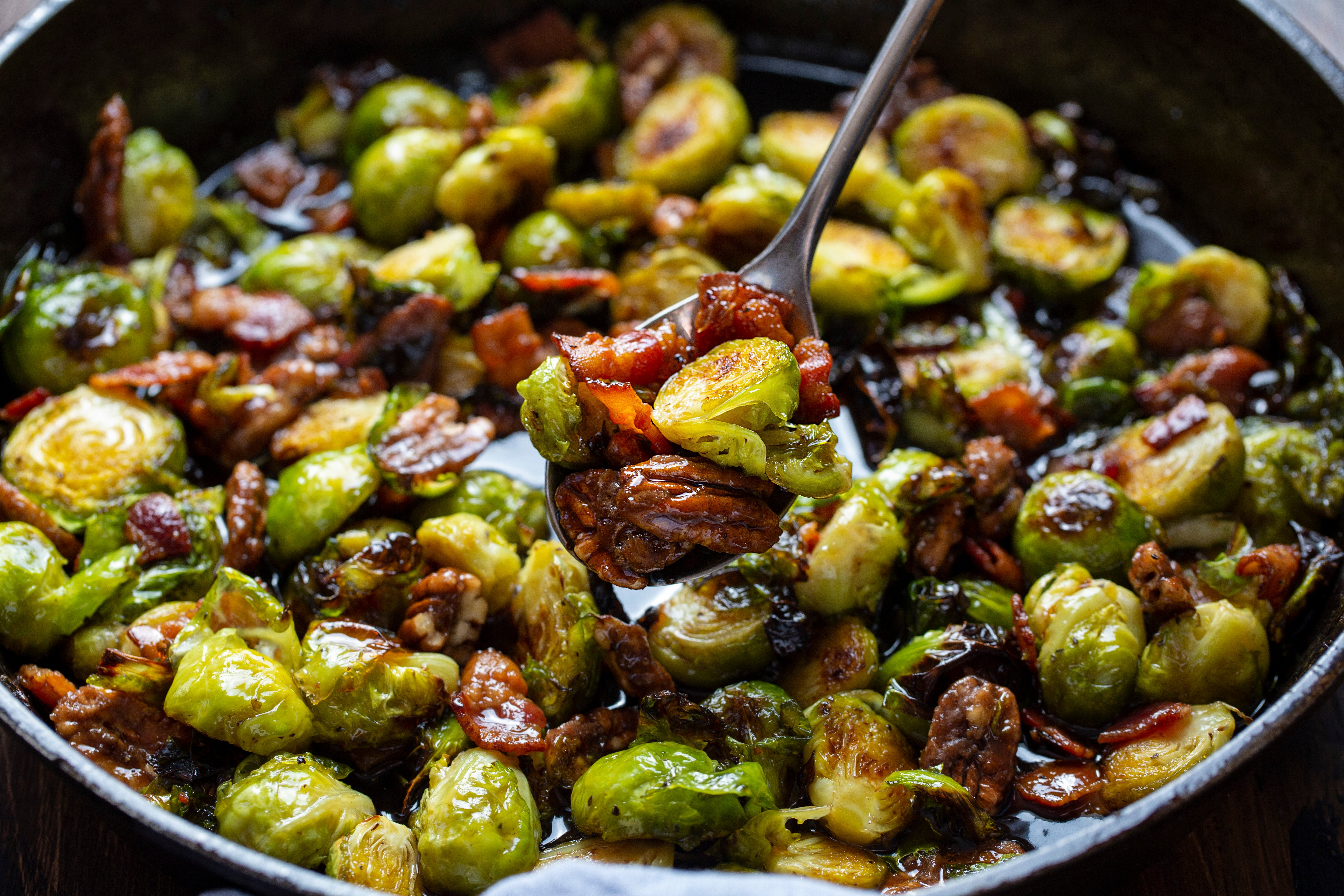 Brussel Sprouts with a Maple Bourbon Glaze Recipe