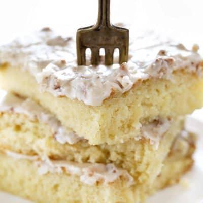Almond Pecan Sheet Cake