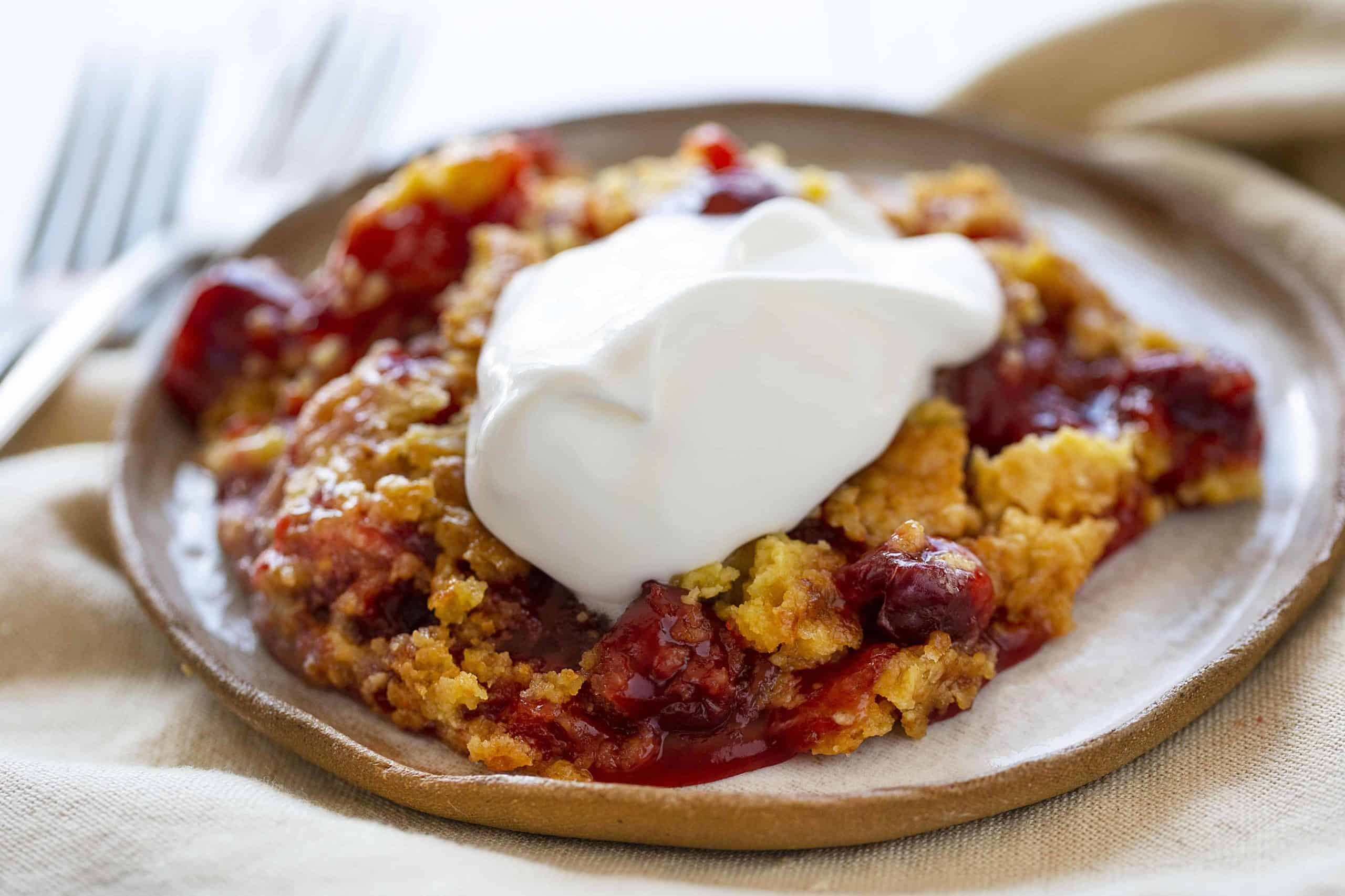 Easy Cherry Dump Cake Recipe