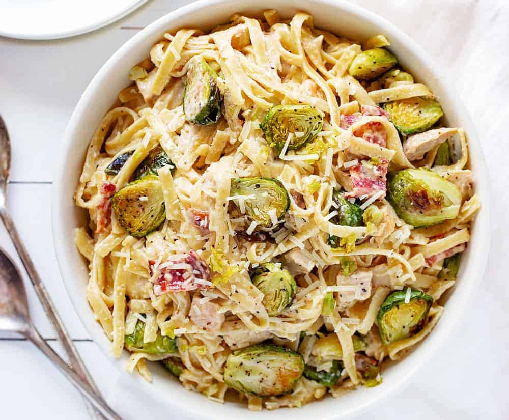 Chicken Alfredo with Brussel Sprouts