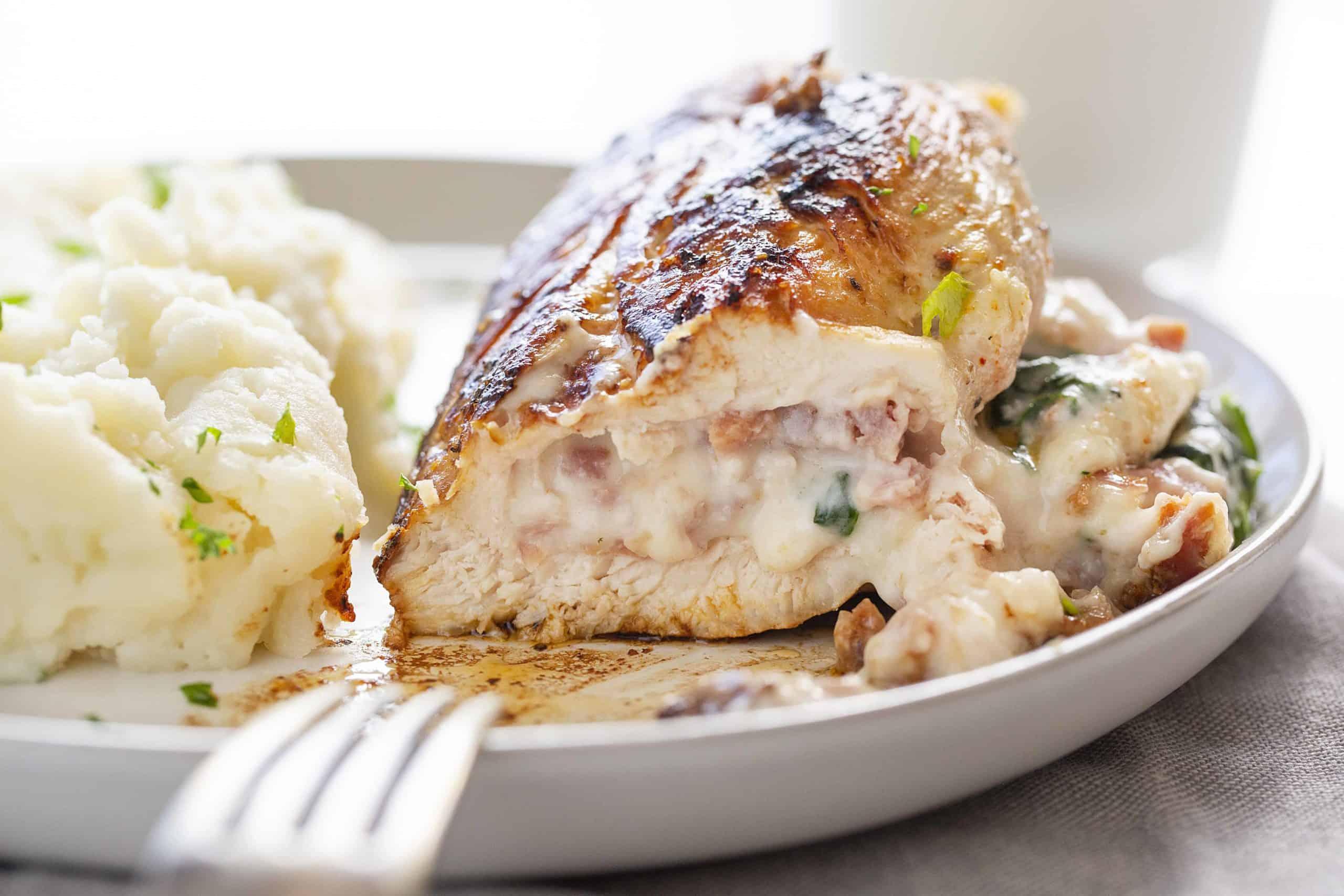 Ham & Cheese Stuffed Chicken
