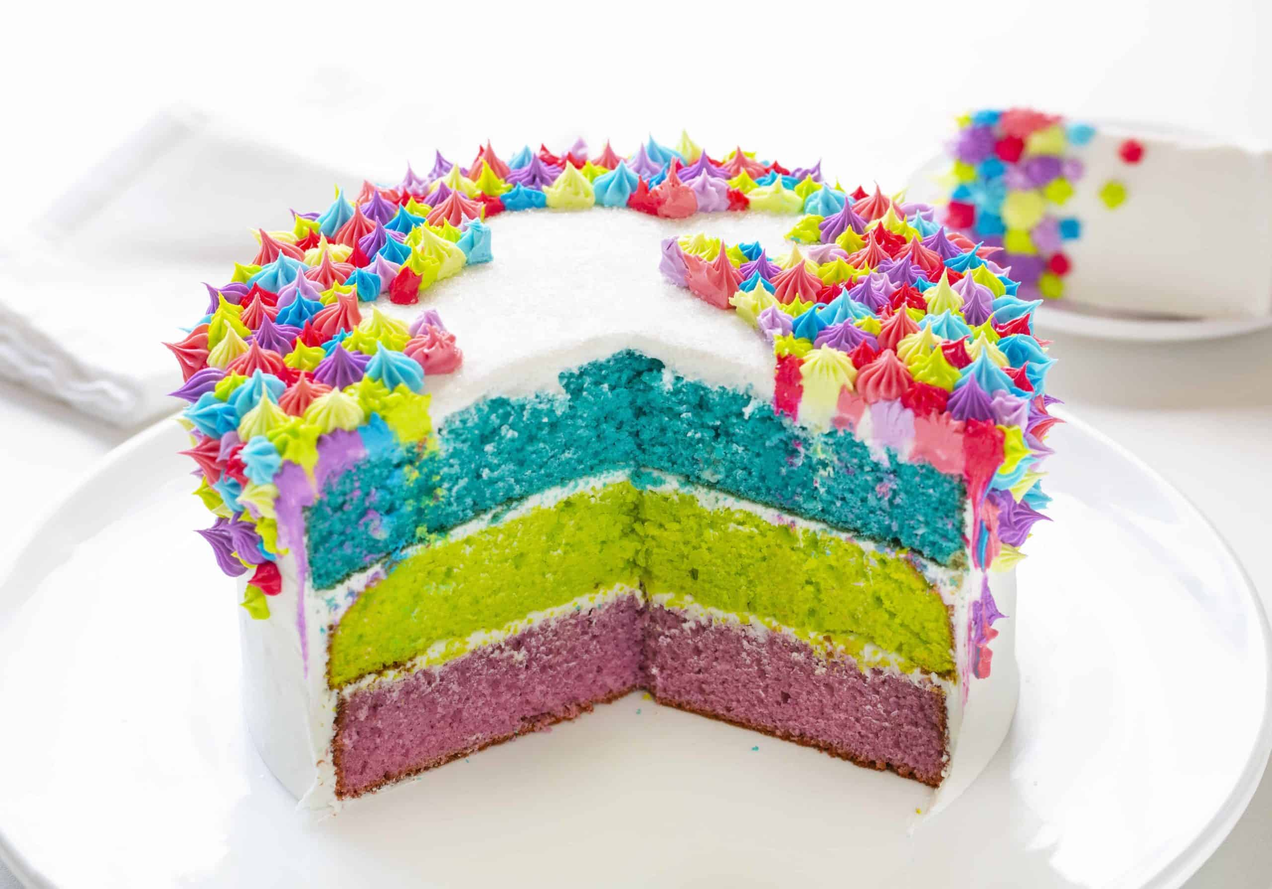 Colorful Bunny Layer Cake