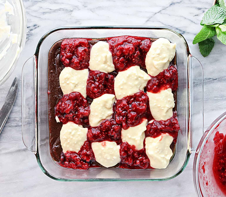Easy Raspberry Cheesecake Brownies