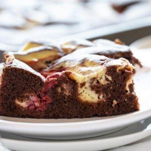 raspberry cheesecake sheetcake