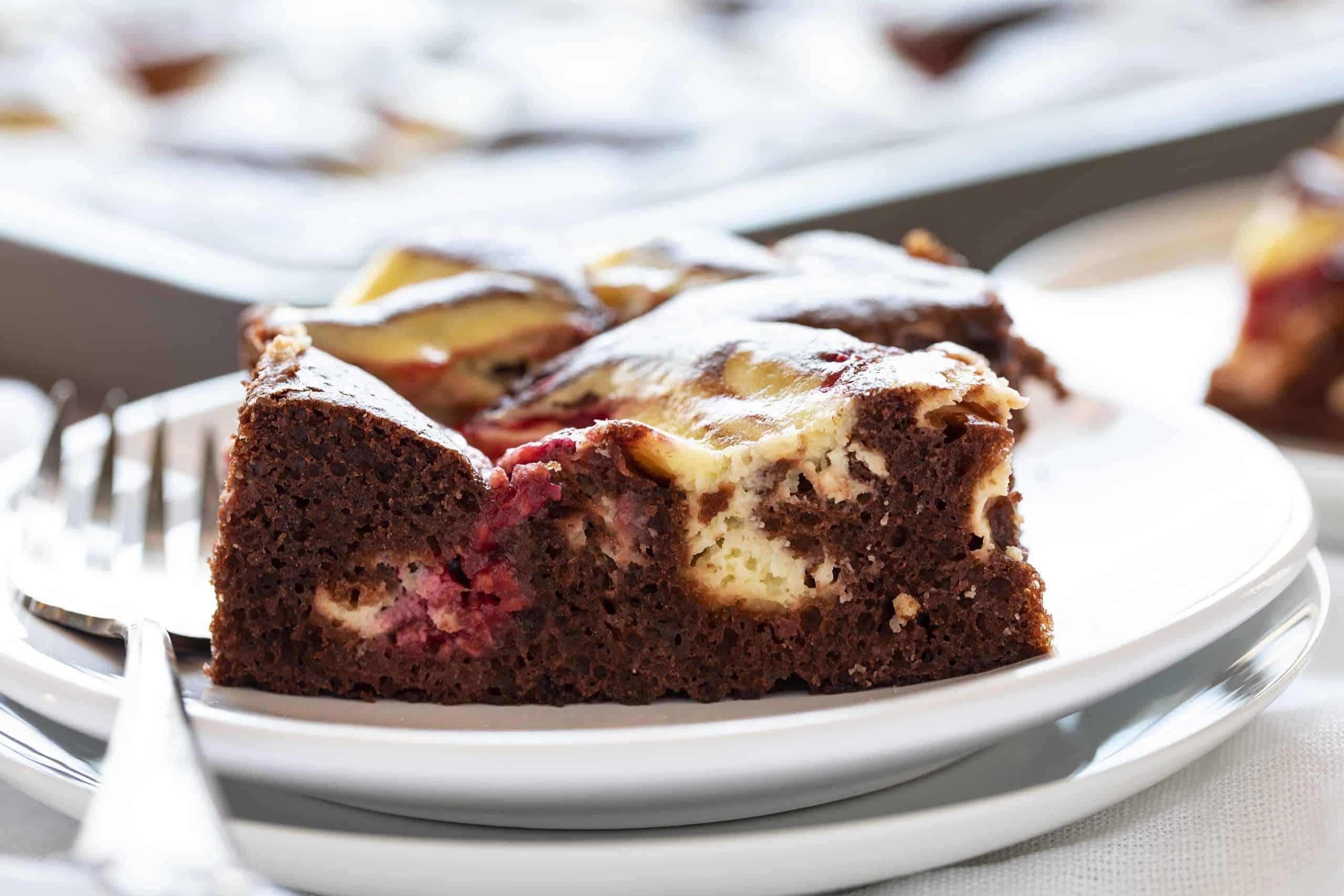 Raspberry Cheesecake Sheet Cake