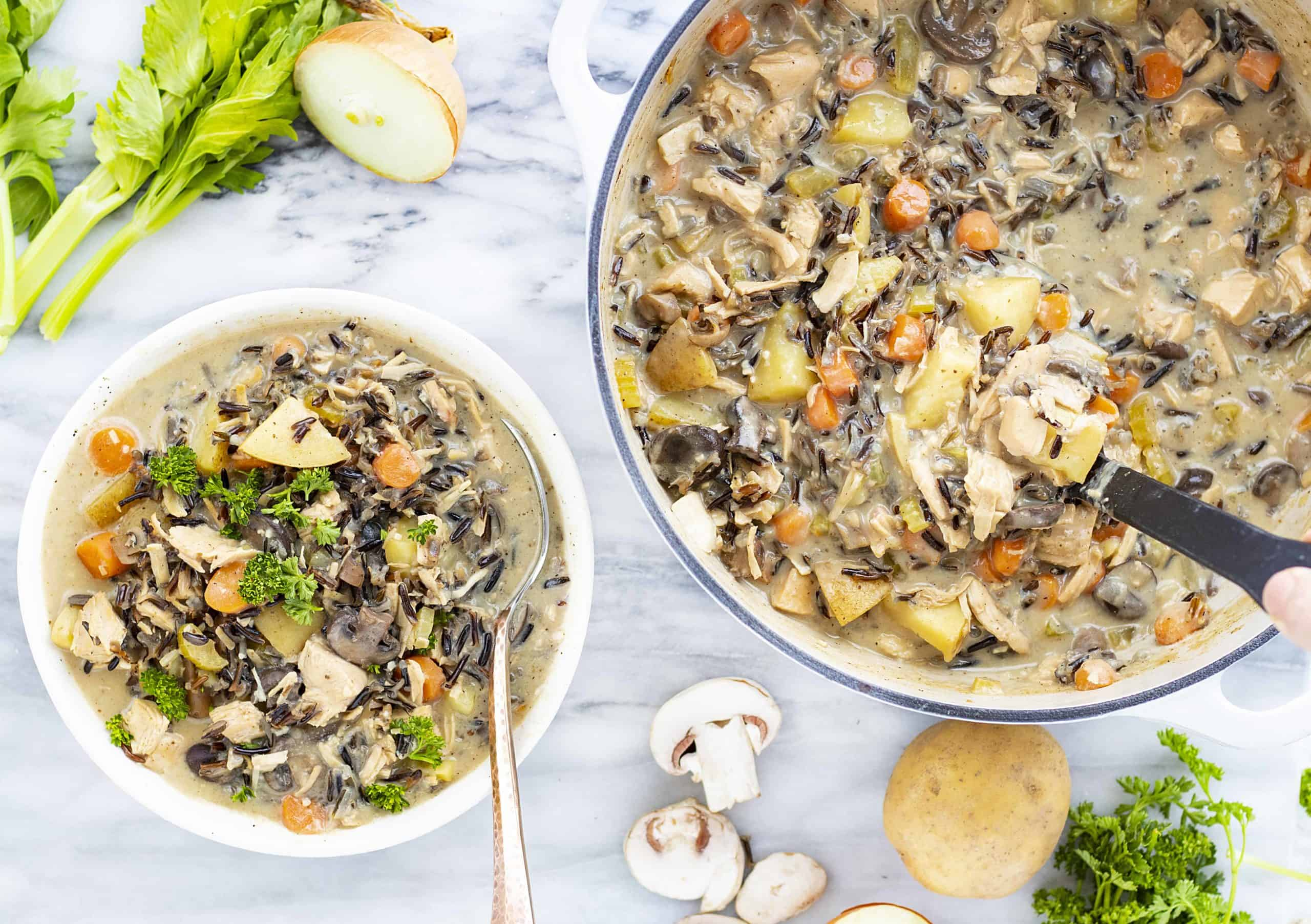 Comfort food - chicken wild rice soup